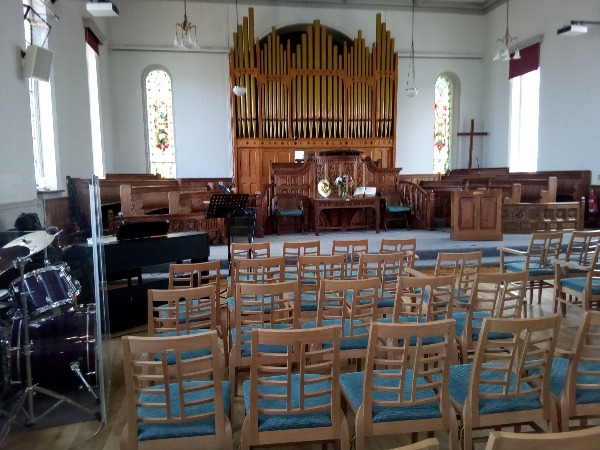 Bude 'Inside church'